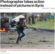 【海外発!Breaking News】撮影より少年の命を救うため走ったカメラマン(シリア)