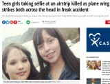 【海外発!Breaking News】自撮りに夢中の少女2人、飛行機の翼に打たれ即死(メキシコ)