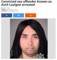 【海外発!Breaking News】「アヴリル・ラヴィーン」に改名した変態男 少女らをつけ回して逮捕(米)