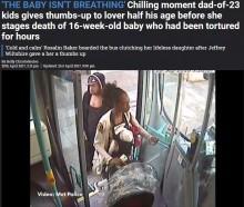 虐待死した乳児を乗せて「バスの中で病死」の偽装を企んだ鬼畜のカップル(英)