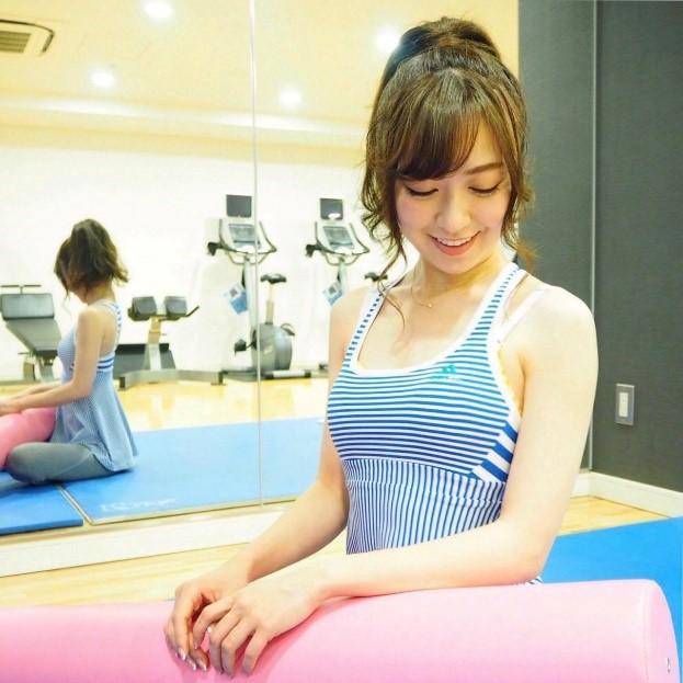 新作ブラを試してみた千葉由佳さん