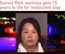 【海外発!Breaking News】心臓を一突き 客を刺殺した中国人ウェイトレスに懲役15年の実刑(米)