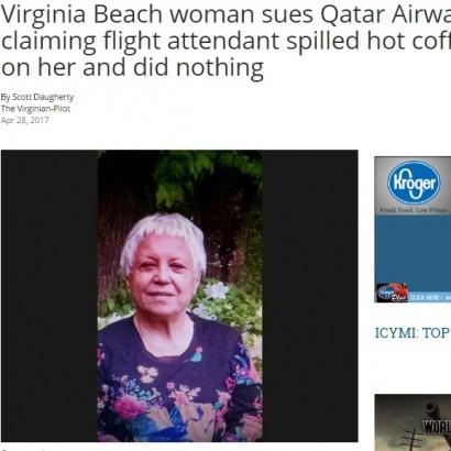 【海外発!Breaking News】熱いコーヒーをこぼしても無視!? カタール航空の乗客、損害賠償を求め訴え