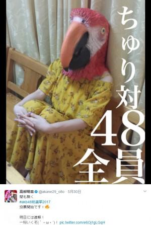 """【エンタがビタミン♪】SKE48高柳明音、好きすぎて""""鳥""""になる「大真面目です!」"""