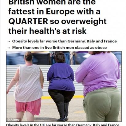 【海外発!Breaking News】「デブ女ばかりだから男がゲイに」英女性の肥満を露記者が痛烈批判