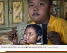 【海外発!Breaking News】2歳で1日に40本喫煙の男児 葛藤の末、禁煙と減量に成功