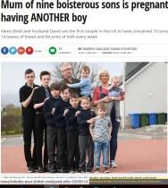 【海外発!Breaking News】息子9人の母親 10人目を妊娠するもまた男の子!(スコットランド)