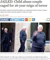 【海外発!Breaking News】5人の子供を16年間監禁、虐待した鬼畜の老夫婦に懲役刑(英)