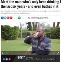 【海外発!Breaking News】飲尿療法を始めて6年 50kgの減量に成功した男性(英)