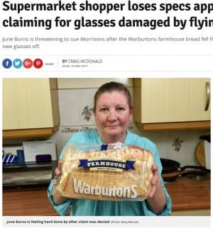 【海外発!Breaking News】「パンが落ちてきたせいで眼鏡が壊れた」女性客、弁償代を店に請求(スコットランド)