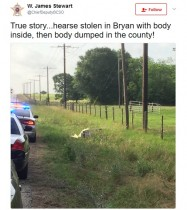 【海外発!Breaking News】霊柩車を盗んだカップル、遺体を路上に捨てる(米)