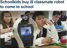 【海外発!Breaking News】授業に出席できない友達のために 同級生ら資金集め、ロボットを購入(米)