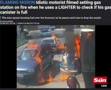 【海外発!Breaking News】「満タンか暗くて見えない」ライターをつけたドライバー、車が爆発(カザフスタン)<動画あり>