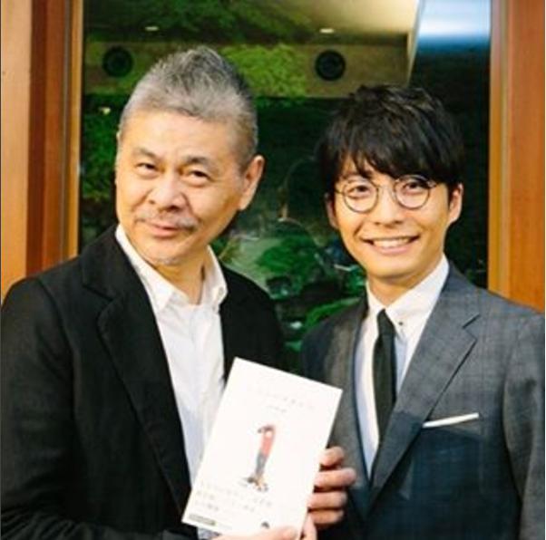糸井重里と星野源(出典:https://www.instagram.com/hobonichi1101)