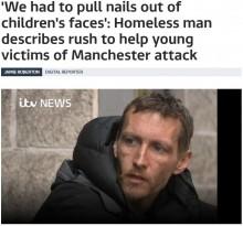 【海外発!Breaking News】英マンチェスターのテロ事件 ホームレス男性2人が救助活動に尽力