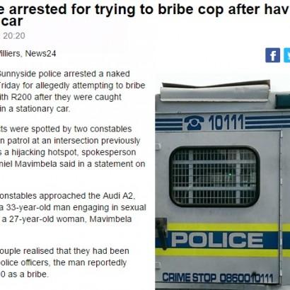 【海外発!Breaking News】賄賂が当たり前の国で…警官に贈賄を試みた男女逮捕(南ア)