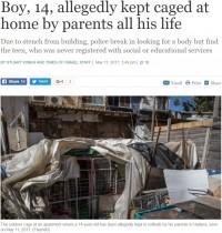 【海外発!Breaking News】屋外のケージに監禁され続けた14歳少年、言葉も話せず(イスラエル)