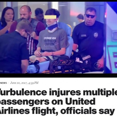 【海外発!Breaking News】カンクン東の上空で激しい乱気流 ユナイテッド航空の14名が重軽傷