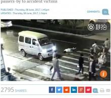 【海外発!Breaking News】「中国の道は地獄へ続く」車に轢かれた女性を誰一人助けず