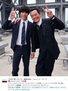 福士蒼汰と遠藤憲一(画像は『[公式]愛してたって、秘密はある。 2017年6月13日付Twitter』のスクリーンショット)