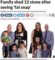 【海外発!Breaking News】家族写真で「なんて太いの…」と自覚 計80kg減量した英夫婦