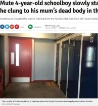 【海外発!Breaking News】突然死した母親のそばで2週間 餓死した自閉症男児に近隣住民の悲しみ広がる(英)