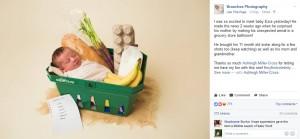 【海外発!Breaking News】スーパーで出産した母親、我が子の記念写真もユーモラスに(カナダ)