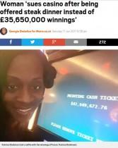 【海外発!Breaking News】スロットマシンで44億円を当てた女性、「機械の故障」と言われカジノ会社を訴える(米)