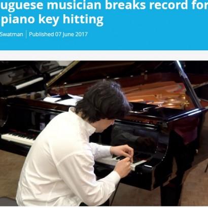 【海外発!Breaking News】『ギネス世界記録』に認定 ピアノの鍵盤を猛スピードで叩き続ける男性<動画あり>