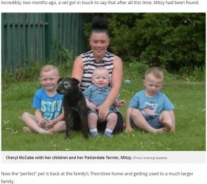 【海外発!Breaking News】6年前に自宅庭から盗まれた飼い犬と家族が感動の再会(英)