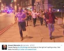 【海外発!Breaking News】ロンドン橋テロ事件、襲撃直後ビール片手に逃げる男性が注目浴びる