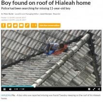 【海外発!Breaking News】ヘリ中継のTVリポーター、捜索願が出ていた少年を偶然にも発見(米)
