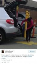 【海外発!Breaking News】あわや大惨事! ガソリンで車のバンパーを洗う女性(カナダ)
