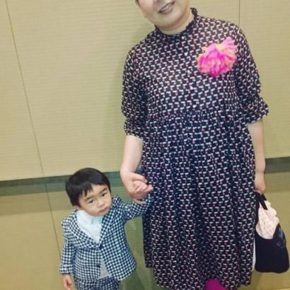 【エンタがビタミン♪】大島美幸、長男・笑福くんと親子でおめかし 「素敵なママ」に