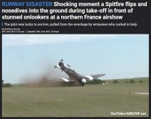 【海外発!Breaking News】仏軍航空ショーで戦闘機が転覆する事故 見学者の目の前で<動画あり>