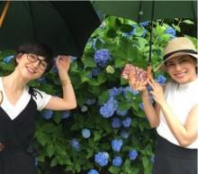 【エンタがビタミン♪】柴咲コウと滝川クリステルが紫陽花デート 偶然のインスタ被りに「なかよしかよっ」