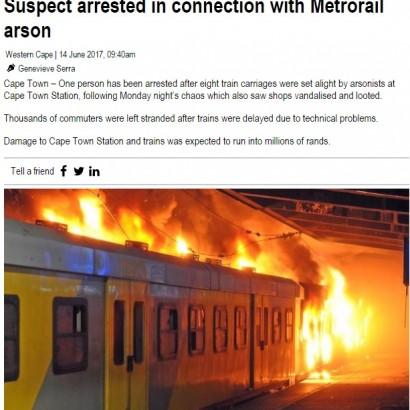 【海外発!Breaking News】遅延続きに乗客が暴徒化 列車に放火、略奪の事態に(南ア)