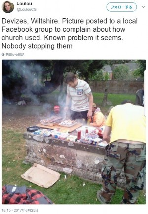 【海外発!Breaking News】「200年前の墓だから無礼だとは思わない」 墓石の上でBBQをする呆れた人々(英)
