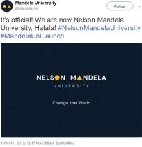 【海外発!Breaking News】「まるでブロック玩具」 ネルソン・マンデラ大学の新ロゴに酷評相次ぐ(南ア)