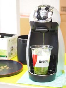 専用マシンで作るアイス抹茶