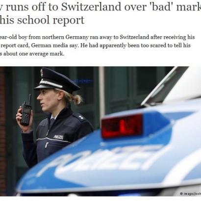 【海外発!Breaking News】ドイツの10歳少年が単独スイスへ逃亡 「パパママに悪い通知表を見せたくない」