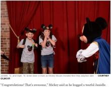 【海外発!Breaking News】ミッキーマウスからサプライズ 養子縁組の知らせに姉弟が涙(米)<動画あり>