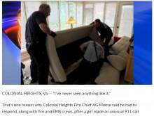 【海外発!Breaking News】「かくれんぼ」の小学生、ソファベッドにはさまり救助隊員が出動(米)