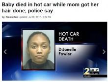 【海外発!Breaking News】1歳児を車内に残してヘアサロンに6時間 25歳母親を逮捕(米)