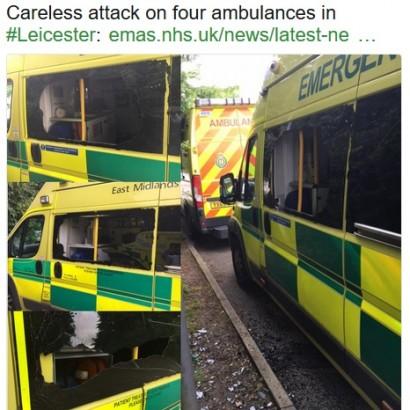 【海外発!Breaking News】被害総額1200万円超! 停車中の救急車4台が破壊される(英)