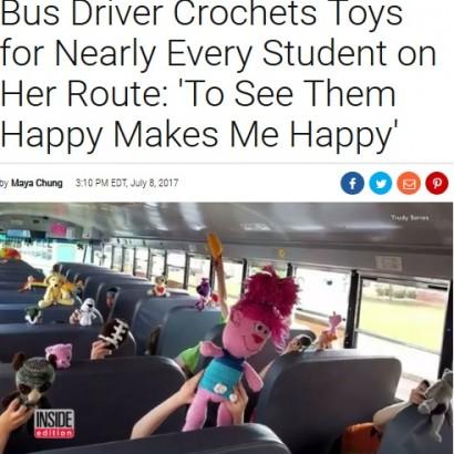 【海外発!Breaking News】趣味を生かして児童らにプレゼント スクールバス運転手「子供たちの笑顔は私の幸せ」(米)