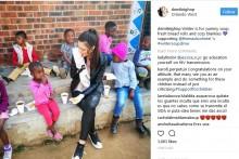 【海外発!Breaking News】ミス南アフリカ HIV感染の黒人孤児に手袋をはめ食事を提供、批判の的に