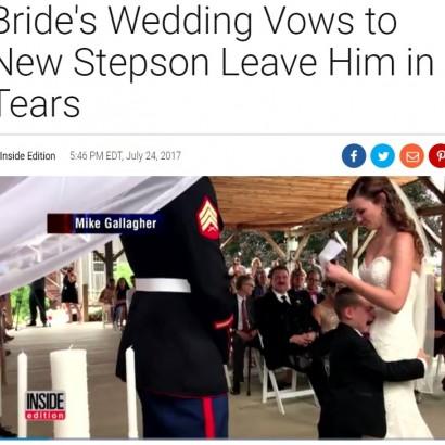 【海外発!Breaking News】4歳男児、父親の結婚式で継母になる女性のスピーチに号泣(米)