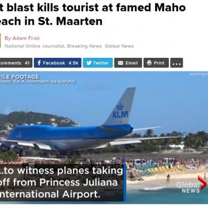 【海外発!Breaking News】超低空飛行の離着陸が拝める「世界一危険なビーチ」でついに死亡事故!