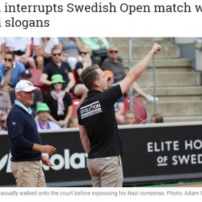 【海外発!Breaking News】男子テニス「スウェーデン・オープン」準決勝コートにネオナチ男が侵入!